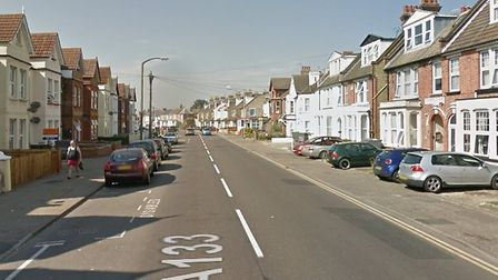The incident took place on Wellesley Road in Clacton last night Picture: GOOGLE MAPS