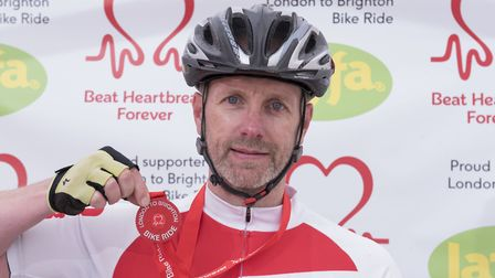 Andy Long from Ipswich has completedThe British Heart Foundation's London to Brighton Bike Ride 20