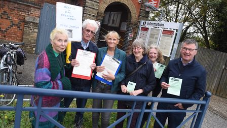 Petition on making Needham Market Railway Station improve its mobility access. Picture: GREGG BROWN