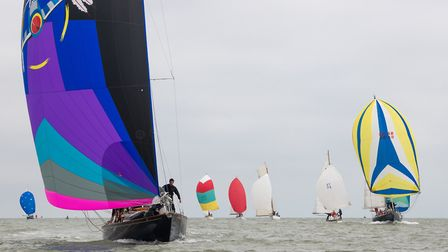 Action at Suffolk Yacht Harbour's Classic Regatta Picture: GILL MOON