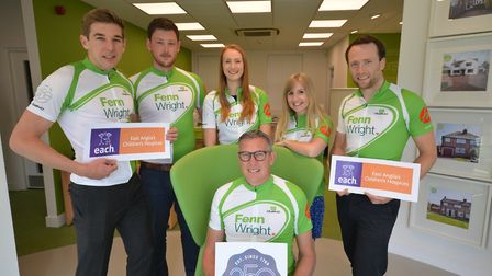 Fenn Wright staff taking part in charity cycle ride to celebrate the firm's 250th anniversary on Jun