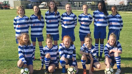 The Ipswich Valley Rangers Girls U13 side who have had a fantastic season Picture: DARREN SCOULDING
