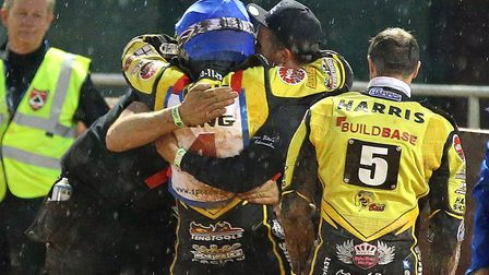What a night that was. Getting hugs from the team after winning the British Final in 2016.