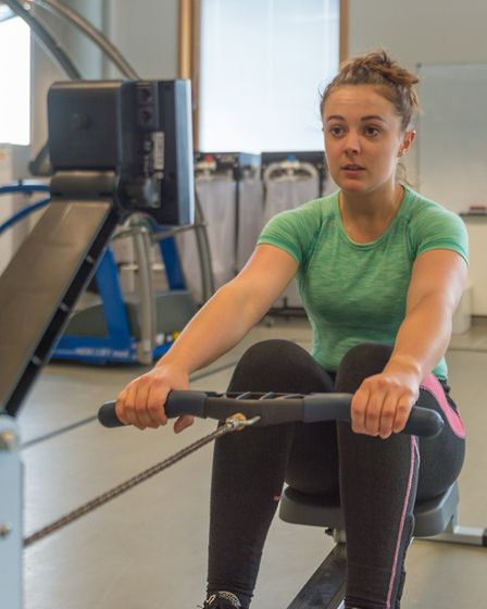 Jasmin Taylor training at the University of Suffolk. Picture: PAVEL KRICKA