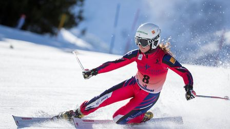 Jasmin Taylor in action on the slopes. Picture: PIERRE RAPHOZ