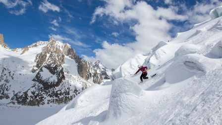 Jasmin Taylor is one of the world's best telemark skiers. Picture: PIERRE RAPHOZ