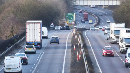 The lorry was spotted by police on the A14 near Bury St Edmunds Picture: GREGG BROWN