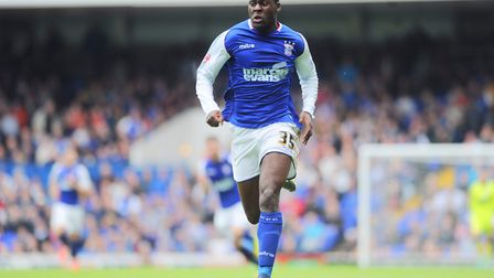 Frank Nouble in action for Ipswich Town back in 2014. Picture: SARAH LUCY BROWN