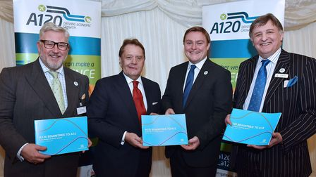Pictured at a previous A120 campaign meeting, Left to right: Kevin Bentley, deputy leader of Essex C