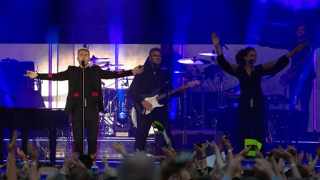 Gary Barlow at Thetford Forest Live. Picture: LEE BLANCHFLOWER