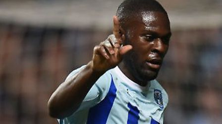 Frank Nouble, celebrating a goal for one of his former clubs, Coventry City. Picture: PA