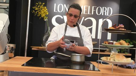 The chef from the Long Melford Swan shows how to make macaroons