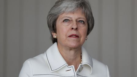 Prime minister Theresa May faces a tough week as the Brexit Bill comes back to the Commons Photo: P