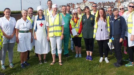Runners and volunteers joined in the NHS celebrations at the Felixstowe parkrun on Saturday. Picture