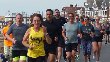 Runners on the prormenade at the 10th staging of the Felixstowe parkrun. Picture: FELIXSTOWE PARKRUN