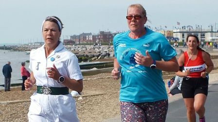 Many runners and walkers were in fancy-dress to mark 70 years of the NHS.