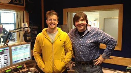 Ben Coomber (in yellow) with former Town 102 presenter Nick Pandolfi Picture: NICK PANDOLFI