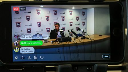 Hurst's first press conference was shown live on our websites. Picture: Steve Waller