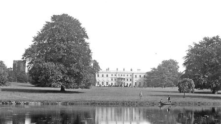 Fornham Park, Bury St Edmunds, before the mansion house was demolished in 1957 Picture: COURTESY OF