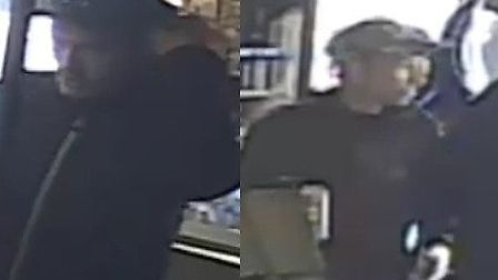 Police would like to speak to these two men in connection with a sweet shop robbery in Halstead Pict