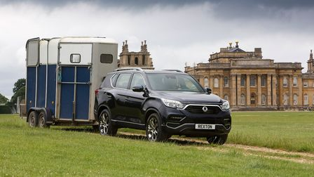 All-new Rexton is the flagship of the SsangYong range and makes light work of towing a horsebox. Pic