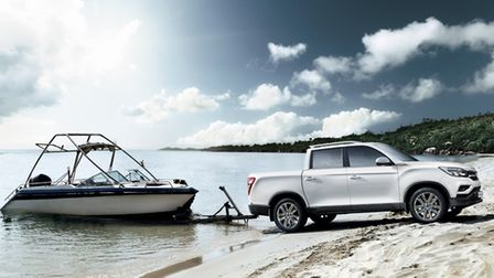 Able to tow up to 3.5 tonnes, the SsangYong Musso pick-up has pulling power. Picture: SsangYong