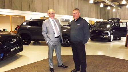 Lindacre Automotive managing director Greg Rashbrook and sales director David Chenery. Picture: Andy