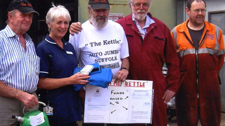 The Kettle Auto Jumble team helped secure a new heart monitor for Framlingham Medical Practice Pictu