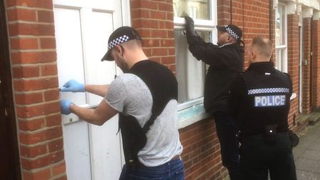 Ipswich police drug raid (stock image) Picture: COLIN ADWENT