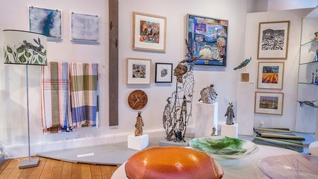 Suffolk Craft Society's summer exhibitiion at Aldeburgh's Peter Pears Gallery. Photo: Dennis Hales