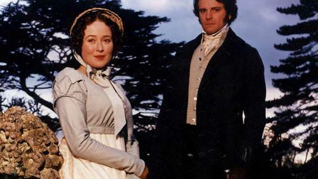 Jennifer Ehle as Elizabeth Bennett and Colin Firth as Mr Darcy in Pride and Prejudice