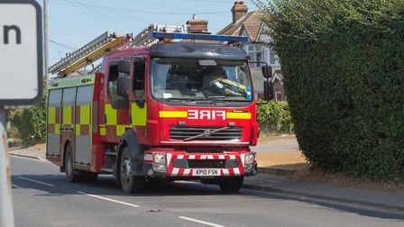 Fire crews are at the scene of a stubble field fire in East Bergholt (stock image) Picture: PAVEL KR