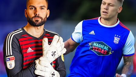 Bartosz Bialkowski and Martyn Waghorn are set to play for Ipswich Town at Barnet.
