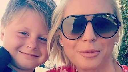 Laura Wright, who had her £200 booking cancelled, with son Ronnie Picture: LAURA WRIGHT