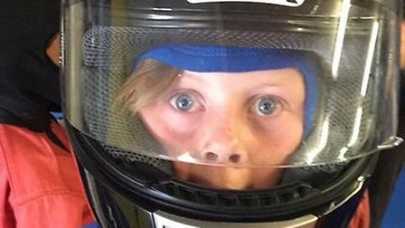 Ronnie enjoying his last-minute go-karting party Picture: LAURA WRIGHT
