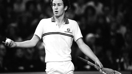 The brilliant tennis player, John McEnroe, never afraid to voice his opinions. He was tennis gold du