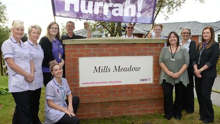 Some of Care UK's team at Mills Meadow in Framlingham, which is up for an award Picture: CARE UK