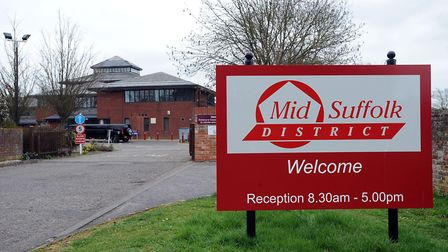 Mid Suffolk District Council formerly occupied offices in Needham Market Picture: PHIL MORLEY