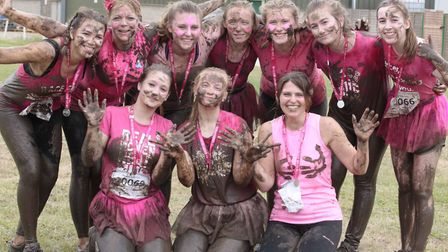 Fundraisers get grubby for the Pretty Muddy event in Trinity Park last year Picture: NIGEL BROWN