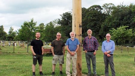 The memorial beacon in Long Melford Picture: Supplied by JOHN NUNN