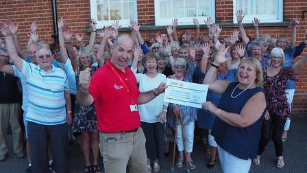 Upbeat Contemporary Choir raised more than £2,500 for the East Anglian Air Ambulance Picture: UPBEAT