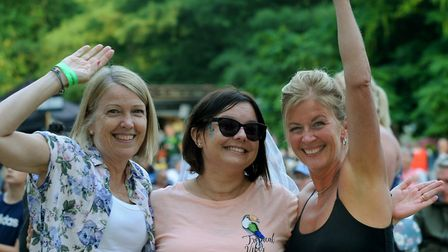 Ipswich bride-to-be Tracey Morgan, centre, on her hen night Picture: ANDY ABBOTT