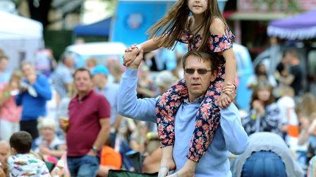 A young fan gets a better view of the action Picture: ANDY ABBOTT