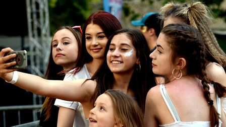 Fans take a selfie at the Nearly Festival in Bury St Edmunds Picture: ANDY ABBOTT