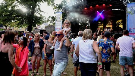 Crowds enjoyed great weather all weekend Picture: ANDY ABBOTT