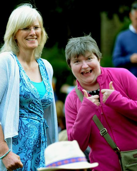 Thumbs up for the Nearly Festival! Picture: ANDY ABBOTT
