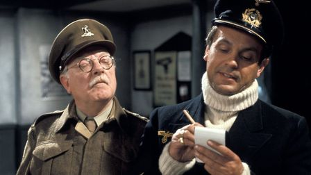 Dads Army celebrates its 50th anniversary in July 2018. A scene from The Deadly Attachment. Capt G