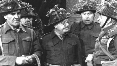 Dad's Army. L to R John Le Mesurier as Sgt Wilson, Arnold Ridley as Private Godfrey, Arthur Lowe a