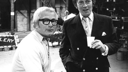 Producer and writer David Croft and writer and co-creator of 'Dad's Army' Jimmy Perry taken in 1973.