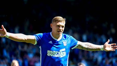 Martyn Waghorn enjoyed an impressive first season at Ipswich Town. Picture: STEVE WALLER